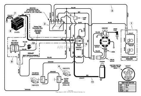 murray 385002x50a lawn tractor 2005 parts diagram for electrical system