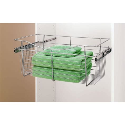 closetmaid wire basket closetmaid shelftrack 8 in h wire basket 2840 the home