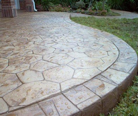 rock solid stamped concrete patio cost  stamped