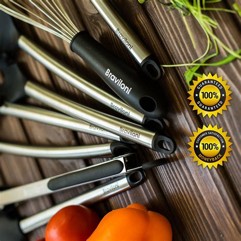 utensils kitchen silicone utensil stainless serving cooking steel nonstick tongs pasta spoon piece tools pots kit pans ladle strainer spatula