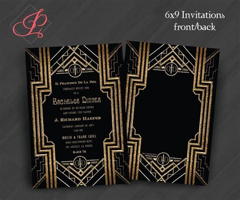 Plain The Great Gatsby Party Invitation 9 Following Newest