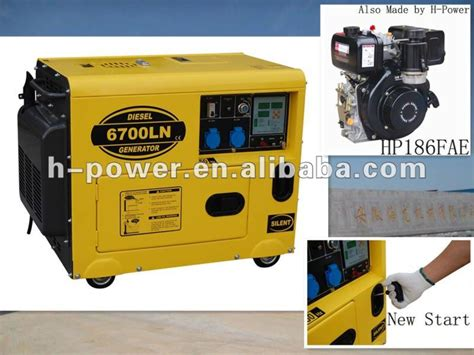 6kva/5kw Small Silent Type Diesel Generator Hp6700ln With