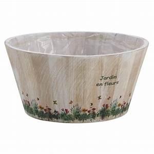 Jardiniere Plastique Gros Volume : jardini re cache pot ronde en bois jardin en fleur achat ~ Dailycaller-alerts.com Idées de Décoration