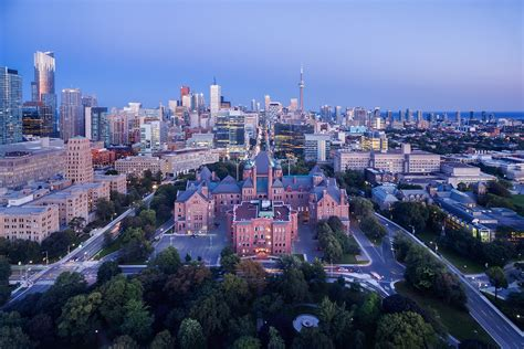Queen Park Toronto From Drone Perspective