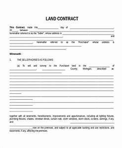 land contract templates free printable land contract form With land purchase contract template