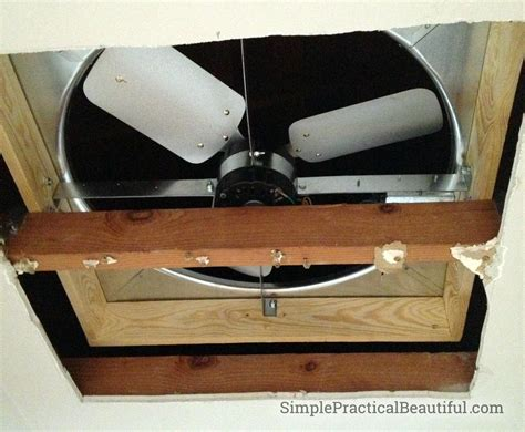 this old house attic fan diy whole house fan simple practical beautiful