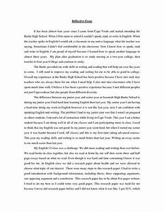 reflective essay thesis reflective essay thesis statement     creative writing definition with author