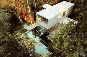 Maisons Contemporaines Camoufl U00e9e Dans La Nature