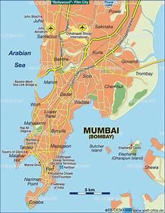 Map of Mumbai (Bombay) (City in India)   Welt-Atlas.de