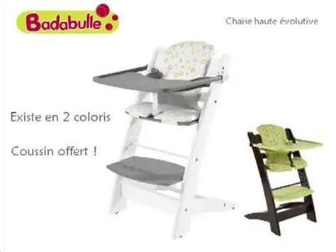 chaise haute volutive badabulle oclio chaise haute évolutive by badabulle