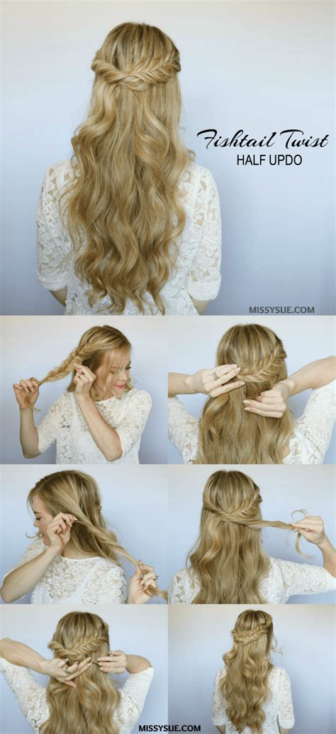 fishtail twist hair tutorials pinterest hair