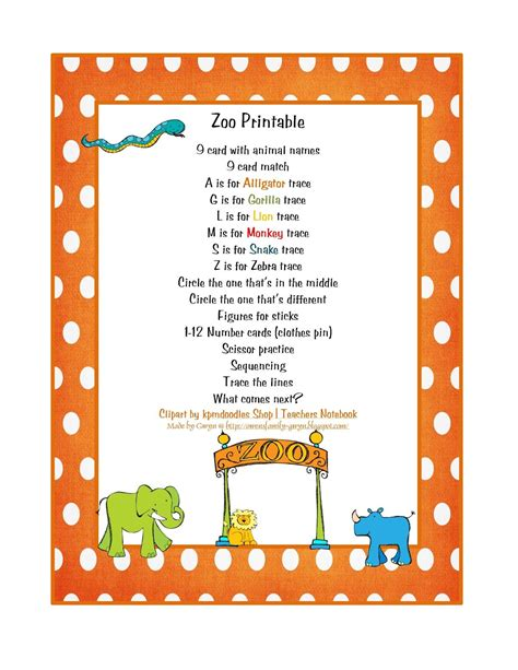 preschool printables zoo theme rainforest animals 995 | 5c1b55d0df7f3cefcfd3f0562cc7f03f