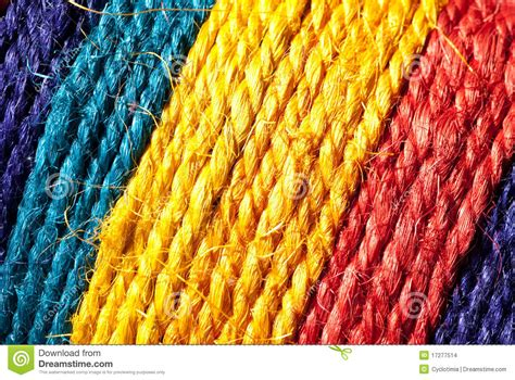 colored rope rainbow colored hemp rope stock images image 17277514