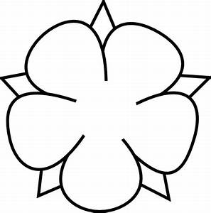 Ornamental Flower Outline Clip Art at Clker.com - vector ...