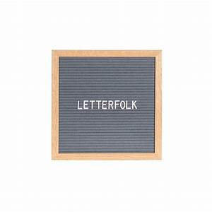 the poet grey 10quot x 10quot letter board letterfolk With grey letter board
