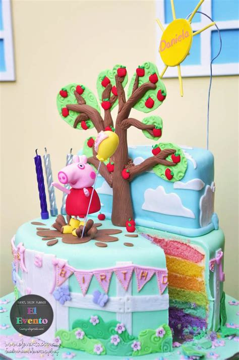 peppa pig 3rd birthday via kara s ideas karaspartyideas printables cake decor