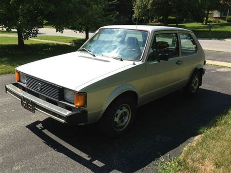 Sell Used 1982 Vw Rabbit Diesel *low Miles* Volkswagen