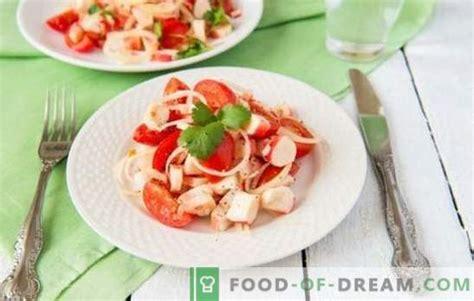 Krabju salāti ar tomātiem - īsta skaistums vienkāršībā ...