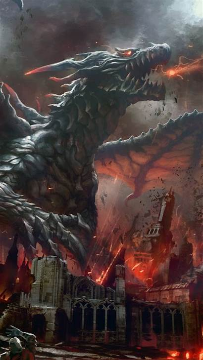 Dragon Iphone Wallpapers Fantasy Android Mobile Epic
