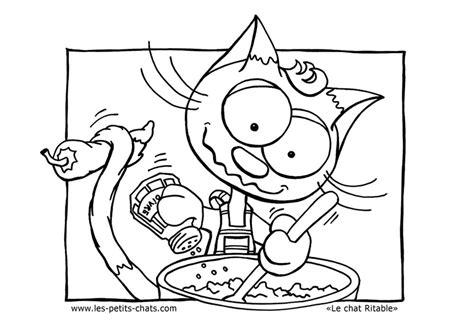 dessin de cuisine à imprimer coloriage le ritable cuisinier