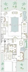 maison en u avec patio plans maisons pinterest With construire sa maison 3d 4 demeure spacieuse detail du plan de demeure spacieuse