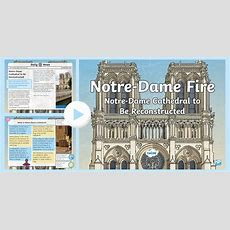 * New * Uks2 Notredame Fire Daily News Powerpoint