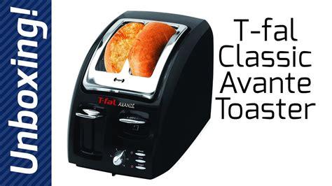 tfal avante toaster t fal classic avante 2 slice toaster unboxing