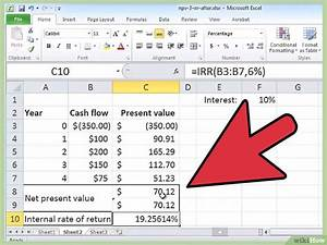 Wachstum In Prozent Berechnen : mit excel die interne zinssatzmethode berechnen wikihow ~ Themetempest.com Abrechnung