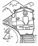 Coloring Train Trains Printable Below sketch template