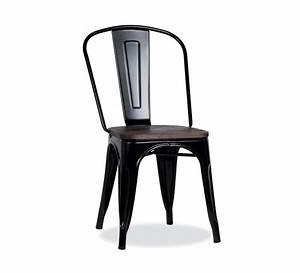 Chaise Industrielle Metal : chaise bistrot m tal noir et bois industrielle 39 industry 39 7082 ~ Teatrodelosmanantiales.com Idées de Décoration