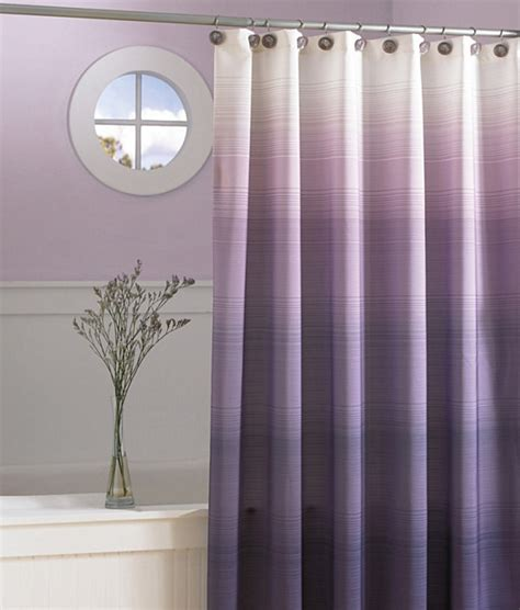 blue ombre shower curtain create a color gradient with ombre design