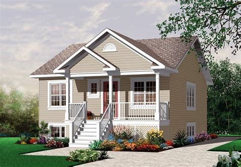 House Plan 64887 One Story Style with 870 Sq Ft 2 Bed