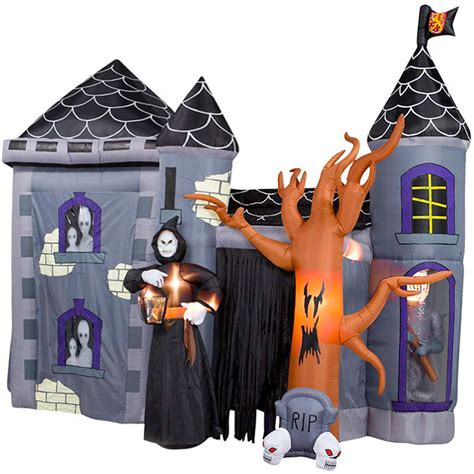giant inflatable halloween haunted castle stands 12