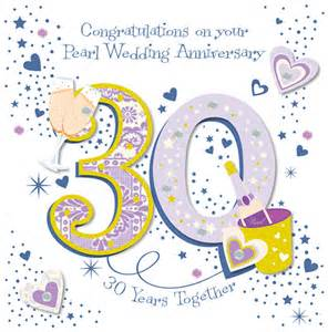 30th wedding anniversary color handmade pearl 30th wedding anniversary greeting card cards kates