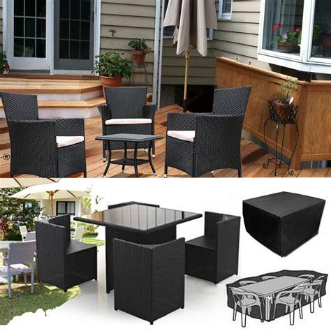 waterproof rattan cube outdoor table garden patio