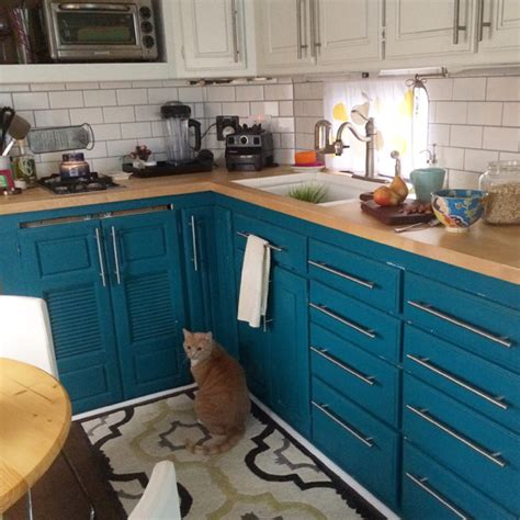 painting kitchen cabinets before after before after an rv to call home design sponge