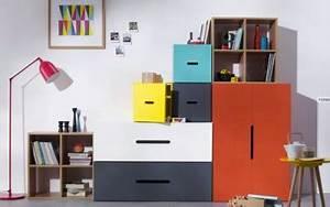 Meuble De Rangement Chambre Enfant : meuble rangement caissons armoire collection kolorcaz 3suisses ~ Teatrodelosmanantiales.com Idées de Décoration