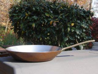 vintage copper double boiler brass handles bain marie pan