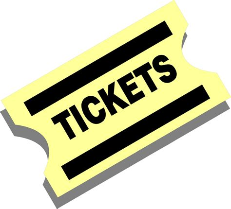 Ticket Clip Ticket Free Stock Photo Illustration Of A Yellow