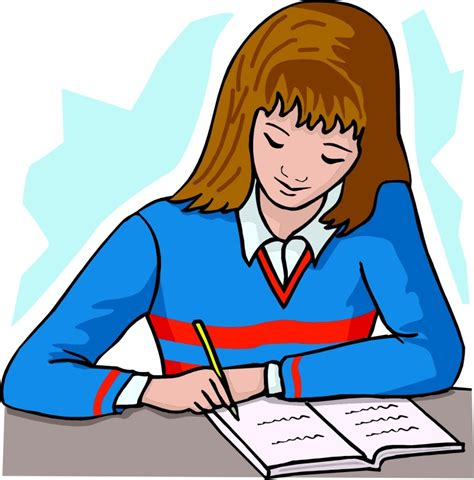 Do Home Work by Best Student Working Clipart 14373 Clipartion