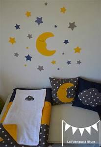 Tour De Lit Bleu Marine : d coration chambre b b toiles nuages lune jaune bleu marine taupe blanc photo de ~ Teatrodelosmanantiales.com Idées de Décoration