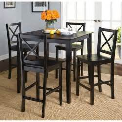 virginia 5 piece counter height dining set black