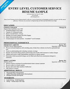 entry level customer service resume resumecompanioncom With pay for resume services