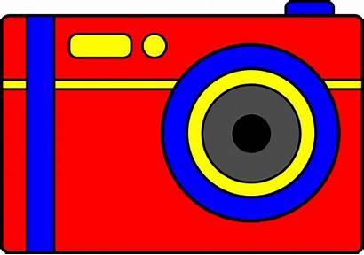 Camera Cartoon Clipart Cameras Digital Clip Cliparts