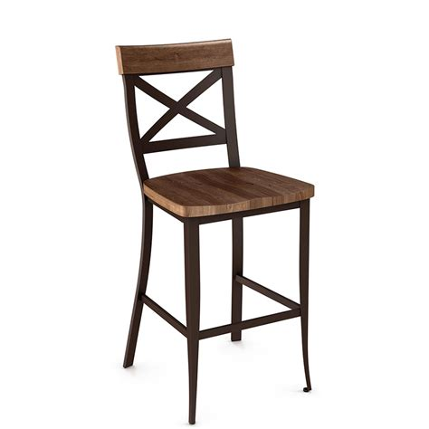 whitdistressed wood bar stools kyle wood counter stool by amisco collectic home 1246