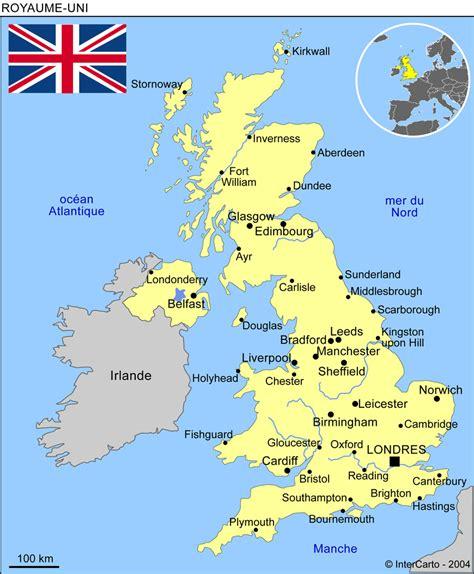 Carte Du Royaume Uni Sans Les Villes by Carte G 233 Ographique Et Touristique Du Royaume Uni Londres
