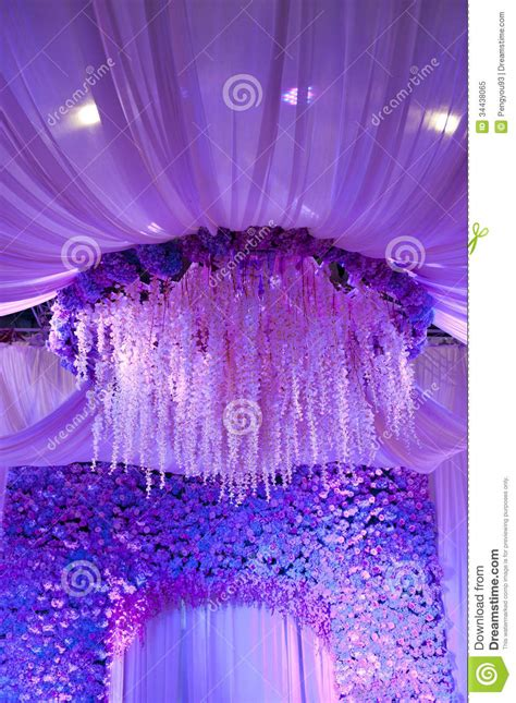 wedding flowers background design stage royalty  stock