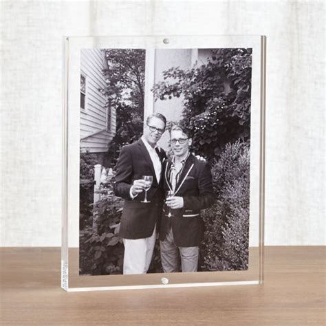 acrylic  block picture frame reviews crate  barrel