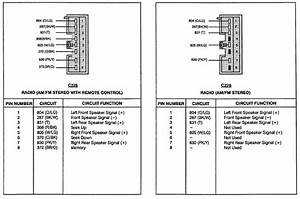 1997 Ford Stereo Wiring Harness Diagram