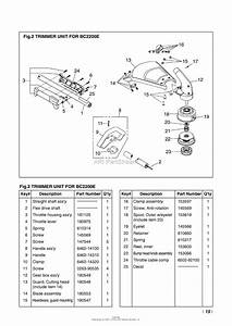 Red Max Bc2200e-09  98 Parts Diagram For 002